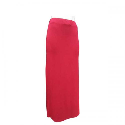 Cotton Red Long Skirt For Ladies - (NP-WS-026)