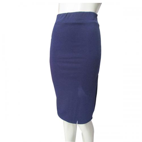 Nevy Blue High Waist Pencil Skirt For Women - (NP-WS-019)