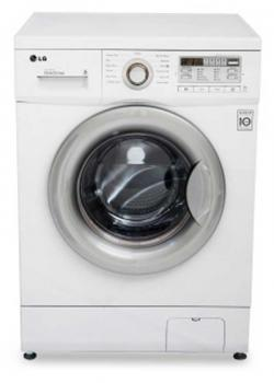 LG Washing Machine (WD-1275QDT (White with Silver Door)) - 7.5 Kg (Front Loading)