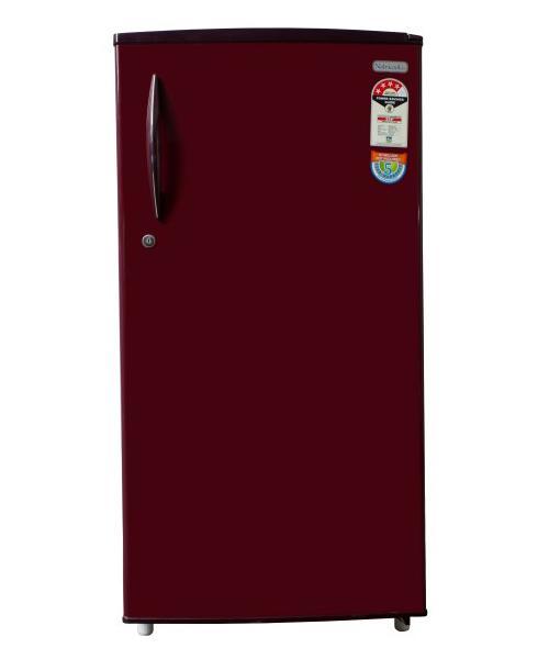 Yasuda Refrigerator (YVDS-BR190l) - Burgundy Red