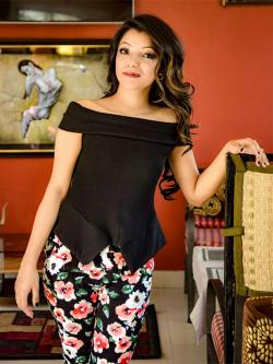 Fashionable Black Off Shoulder T-Shirt - (NP-DSC-8773-3)