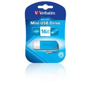 Verbatim 16GB Mini USB Flash Drive - Blue