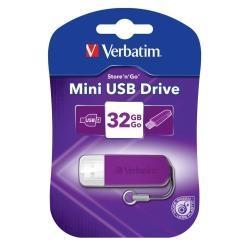 Verbatim 32GB Mini USB Flash Drive - Violet