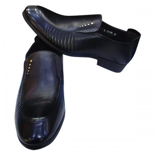 Leather Men's formal Party shoe in Black color
