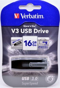 Verbatim Store'n'Go V3 USB 3.0 Drive 16GB (Grey)