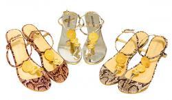 Fia Ladies Flat Sandal - (SAH-036)