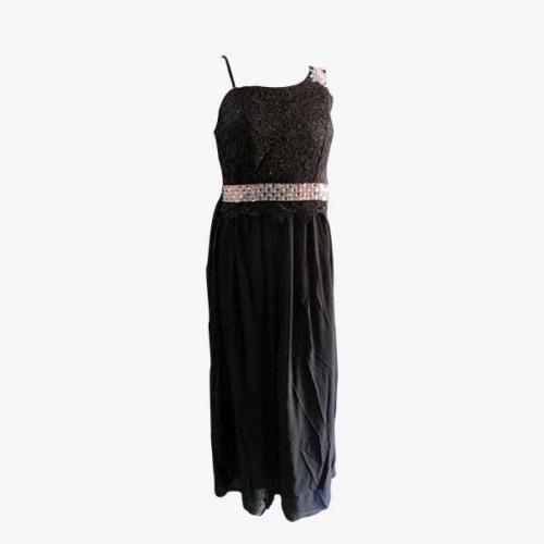 Dark Black Long Gown - (NP-PD-031)