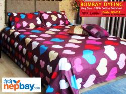 Bombay Dyeing King Size 100% Cotton Bedsheet with 2 Pillow Covers - (BD-018)