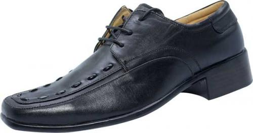 Black Designing Leather Shoe (SS-M2787)