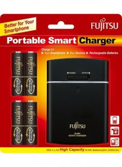 Fujitsu Rechargeable 2450mah USB Portable Charger Powerbank