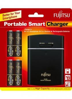 Fujitsu Rechargeable 2450mah USB Portable Charger Powerbank