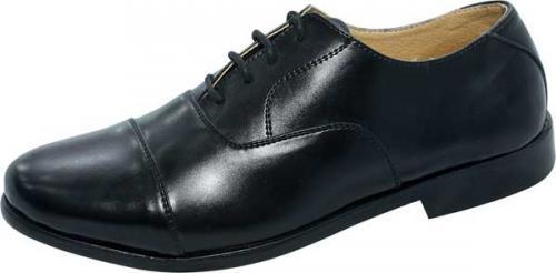 Black Leather Men's Shoe (SS-M212)