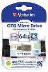 Verbatim OTG Micro USB 3.0 Flash Drive (64GB) - (VTM-49827)