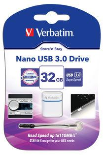 Verbatim Store 'n' Stay Nano USB 3.0 Drive 32GB - (VTM-64780)