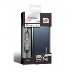 Verbatim 6000 mAh Li-polymer Portable Battery - (VTM-6000)