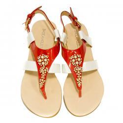 Fabia Ladies Flat Sandal - (SAH-035)