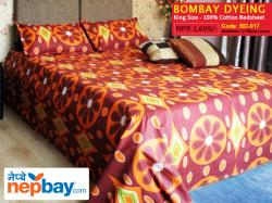 Bombay Dyeing King Size 100% Cotton Bedsheet with 2 Pillow Covers - (BD-017)