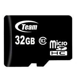32GB Class 10 Micro SDHC Team High Speed Memory Card - (SDHC-32GB)