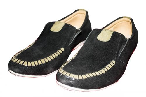 Black Shawer Casual Shoe (TK-PRT-011)