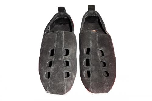 Stylish Black With Hole Shoe (TK-PRT-010)