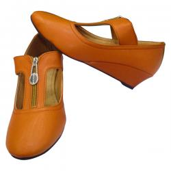 Brown Leather Ladies Shoe (SS-546)