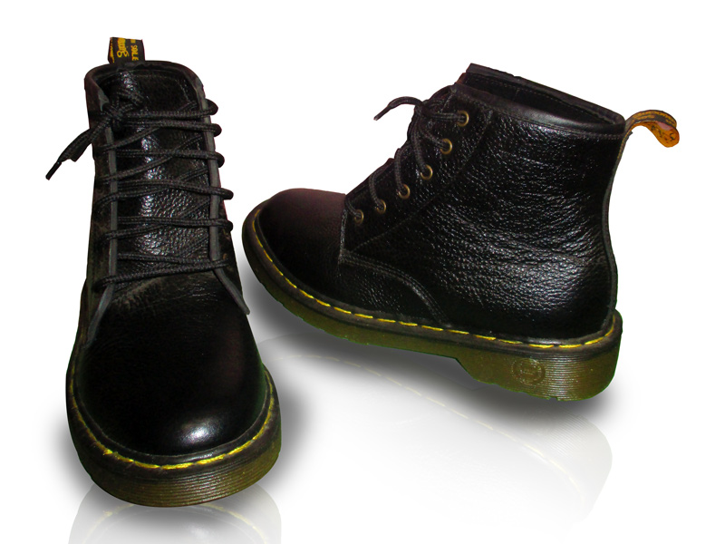 Dr.Martens Black Leather Shoes Long Bootses (TK-0929) by Takura Shoe ... 62b9a1f36f6b