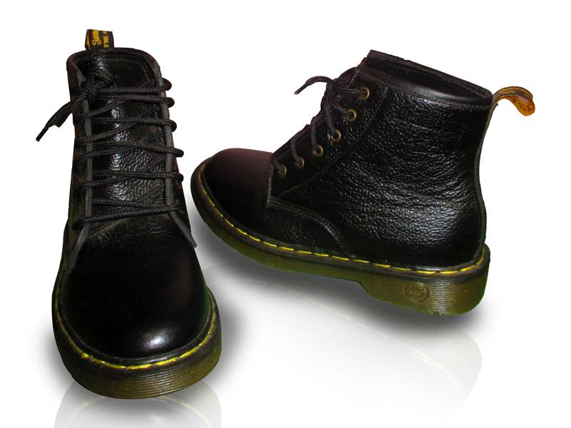 Dr.Martens Black Leather Shoes Long Bootses (TK-0929)