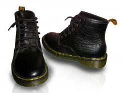 Dr.Martens Black Leather Shoes Long Bootses (TK-0929)
