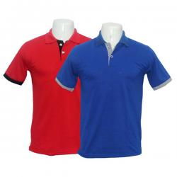 Red and Navy Blue Polo T-Shirt Pack Of 2 - (BASTRA-012)