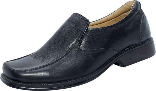 Lacefree Black Leather Shoe (SS-M2760)