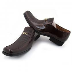 Shiny Brown Party Shoe for Men - (SS-003)