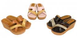 Litena Ladies Wedge Heel Sandal - (SAH-013)