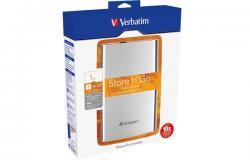 Verbatim Store 'n' Go USB 3.0 Portable Hard Drive 1TB Silver