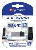 Verbatim Store'n'Go OTG USB 3.0 Drive 64GB Tiny - (VTM-64494)