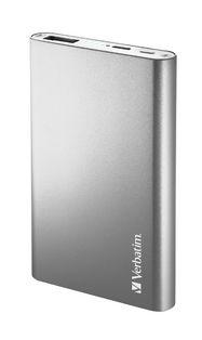 Verbatim Portable USB Power Pack Charger (5000 mAh) - Silver
