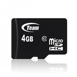 4GB Class 10 MicroSDHC Team High Speed Memory Card - (SDHC-4GB)