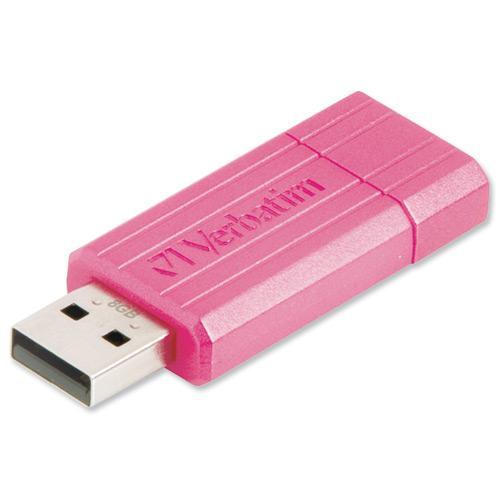 Verbatim 8GB PinStripe USB Flash Drive - Pink
