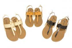 Fausta Ladies Flat Sandal - (SAH-034)
