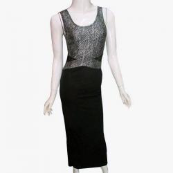 Black & Silver Long Dress - (NP-PD-025)