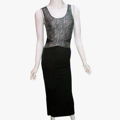 Black & Silver Long Dress - (NP-PD-025)