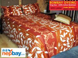 Bombay Dyeing King Size 100% Cotton Bedsheet with 2 Pillow Covers - (BD-013)