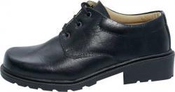 Black Color Plain School Shoe (SS-M731) - Available Different Size