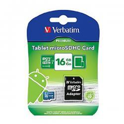 Verbatim 16GB Tablet microSDHC Memory Card, UHS-1 Class 10 - (VTM-44043)