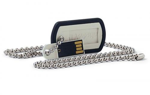 Verbatim Dog Tag USB Drive- Chain included 8GB(98505)