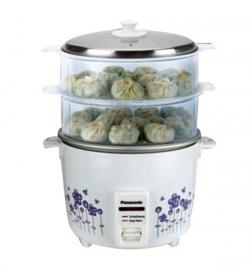 Panasonic Rice cooker (SR-WA22(H) SS) - Double steamer