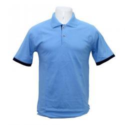 Sky Blue Bastra Polo Neck T-Shirt - (BASTRA-018)