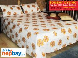 Bombay Dyeing King Size 100% Cotton Bedsheet with 2 Pillow Covers - (BD-009)
