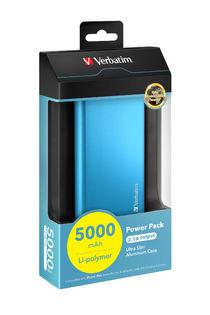 Verbatim Portable USB Power Pack Charger (5000 mAh) - Blue