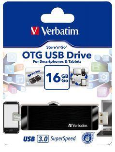 Verbatim Store'n'Go OTG USB 3.0 Drive 16GB Black