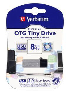 Verbatim Store'n'Go OTG USB 3.0 Drive 8GB Tiny